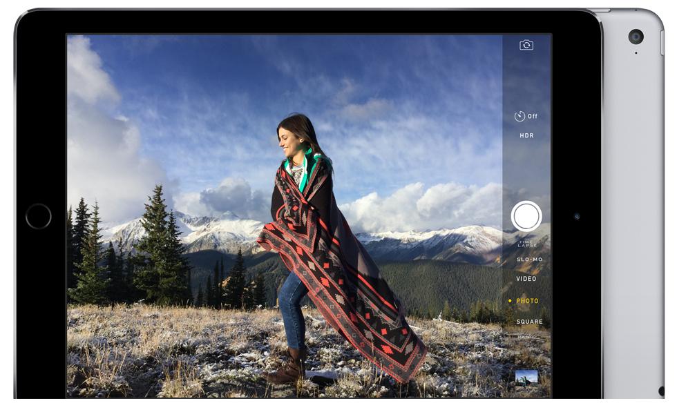 iPad Air 2. մեծ պլանշետ գերբարակ կորպուսում