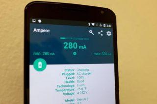 Օգտագործեք Ampere, որպեսզի համոզված լինեք, որ ձեր Android սարքը լիցքավորվում է պատշաճ կերպով