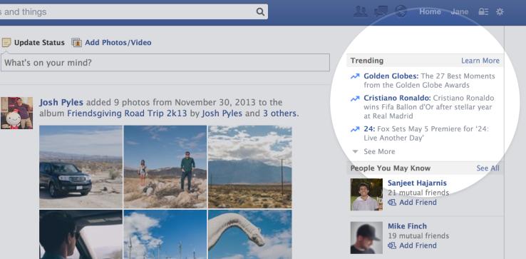 Facebook-ը կցուցադրի ամենաշատ քննարկվող թեմաները