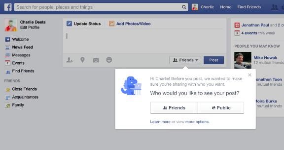 Facebook-ի օգտատերերի գրառումները կկարողանան տեսնել միայն ընկերները