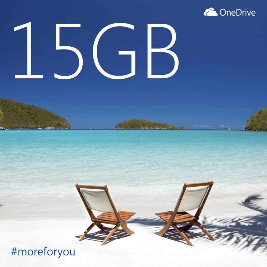 Microsoft-ը OneDrive-ի անվճար ծավալը մեծացնում է մինչև 15 ԳԲ