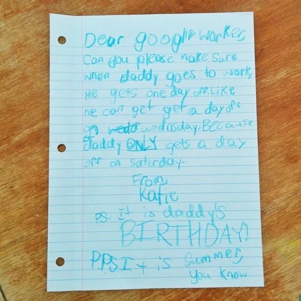 Google-ի աշխատակցի դուստրը ամենալավ նվերն է մատուցել հորը