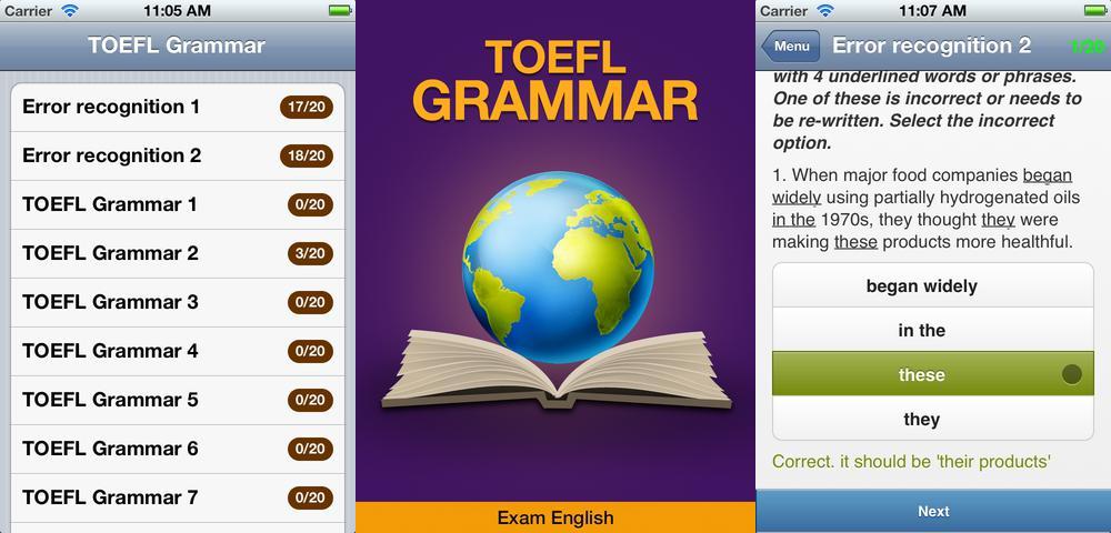 TOEFL Grammar հավելվածն օգնում է կատարելագործել անգլերենի իմացությունը
