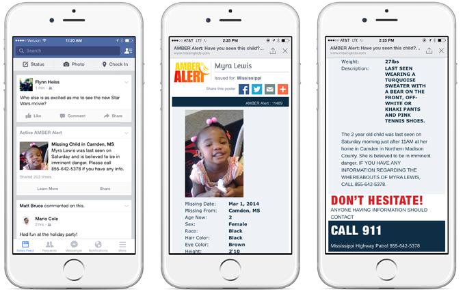 ԱՄՆ-ում Facebook-ի օգտատերերը «AMBER Alert» ծանուցումների միջոցով կտեղեկացվեն կորած երեխաների մասին
