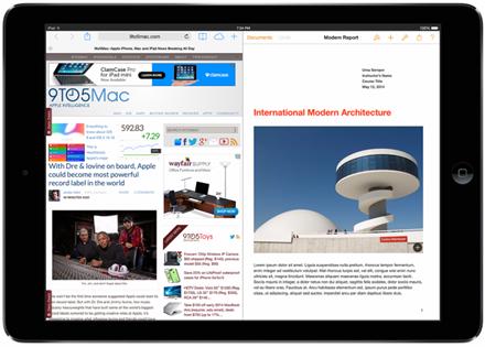 Լուրեր iPad-ի մասին. iOS 8-ը կհամալրվի էկրանի տրոհման բազմաֆունկցիոնալ գործիքով