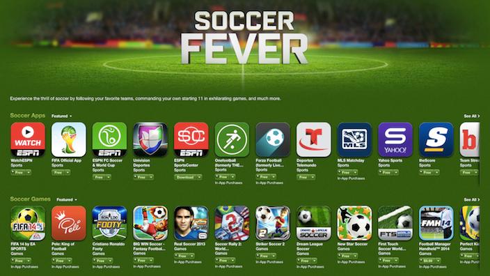 Apple ընկերությունն App Store-ում ավելացնում է «Soccer Fever» բաժինը