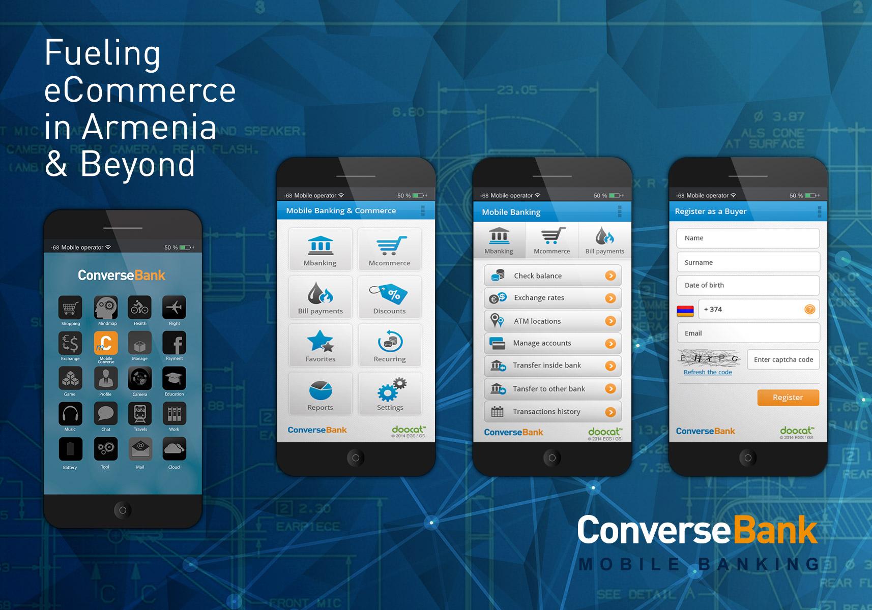 mConverse հավելված. առաջին մոբայլ բանկը Հայաստանում
