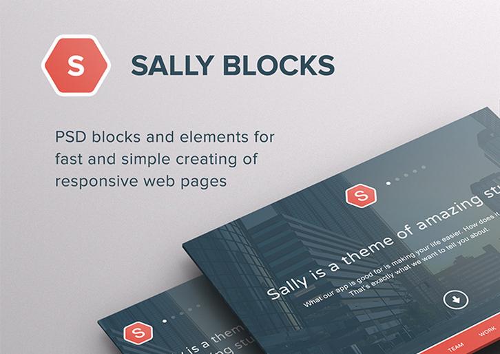200+ PSD բլոկներ և բաղադրիչներ արձագանքող կայքերի համար