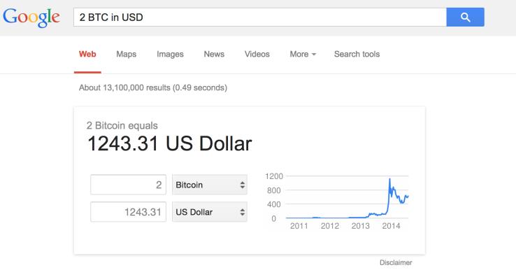 Google-ն արտարժույթների ցանկում ավելացրել է Bitcoin-ը