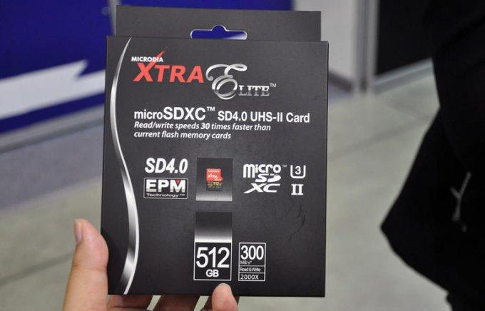 Արտադրվել է 512 GB ծավալով microSD քարտ