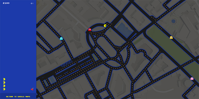 Google Maps-ում հնարավոր է Pac-Man խաղալ