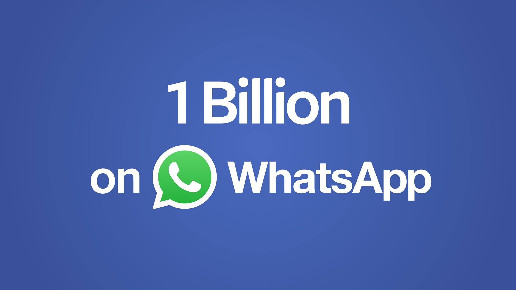WhatsApp-ի օգտատերերի քանակը միլիարդից ավել է