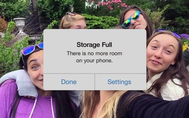 Google-ը ծաղրել Է iPhone-ի հիշողության փոքր ծավալը