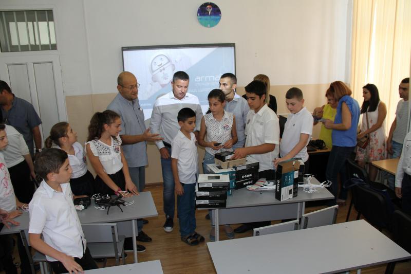WiFi սարքավորումներ` 173 դպրոցի «Արմաթ» լաբորատորիային
