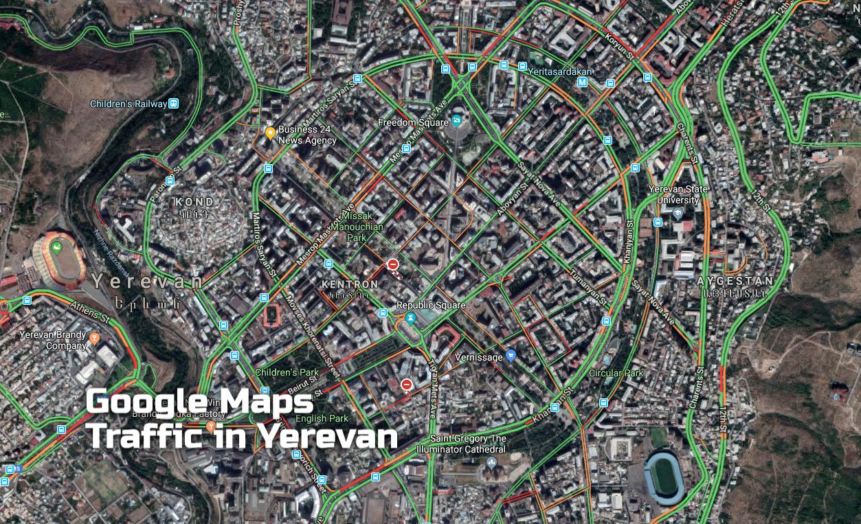 Google Maps-ի Traffic ծառայությունն արդեն հասանելի է հայ վարորդների համար