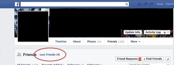 Իմացիր, թե ով այլևս քո Friend-ը չէ Facebook-ում